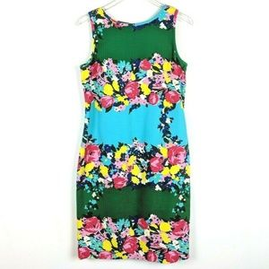 Talbots Multi Color Spring Floral Print Dress 10
